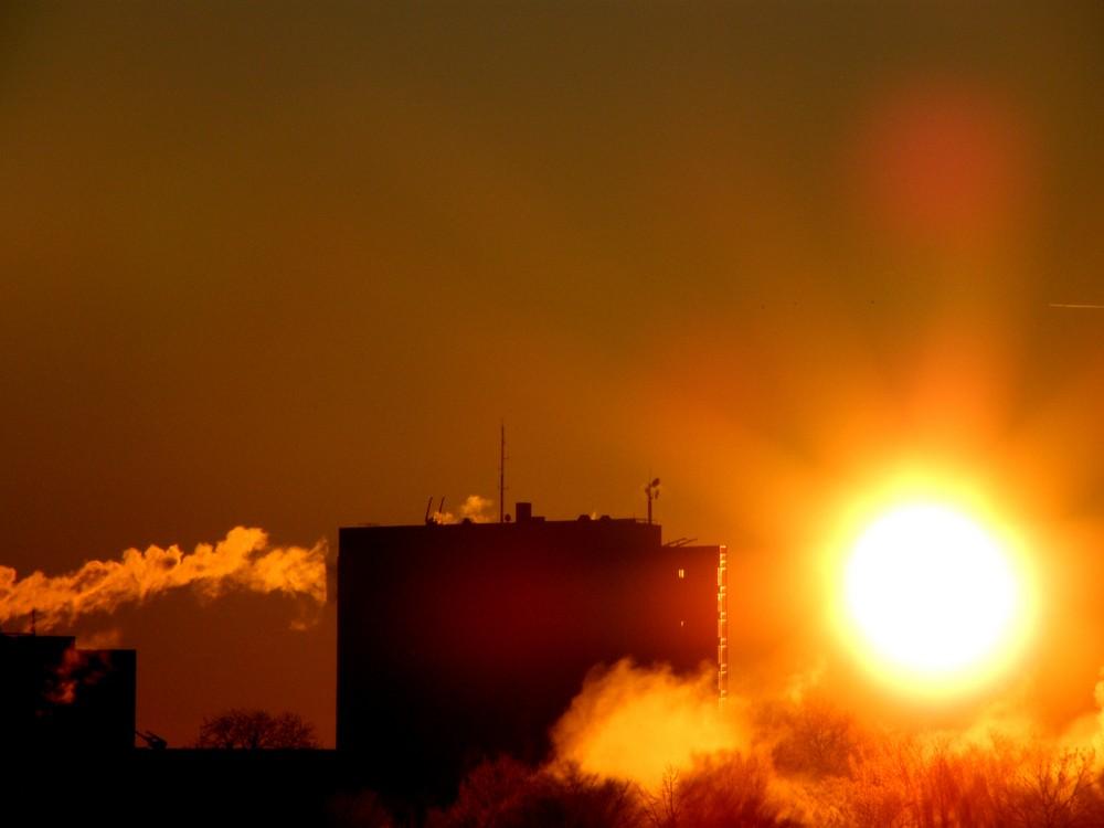 Sonnenaufgang auf pöttisch