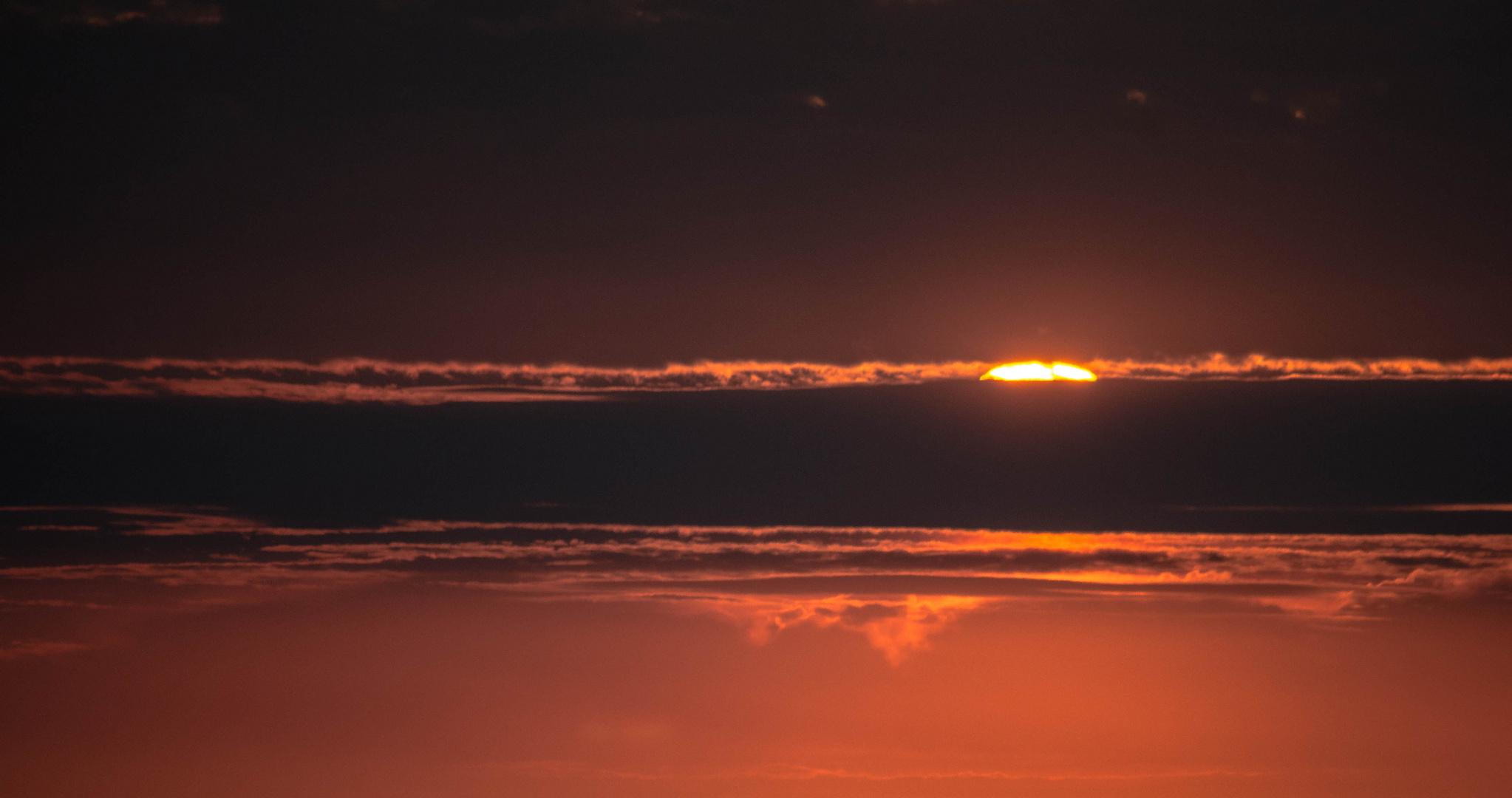 Sonnenaufgang aus dem Ballonkorb
