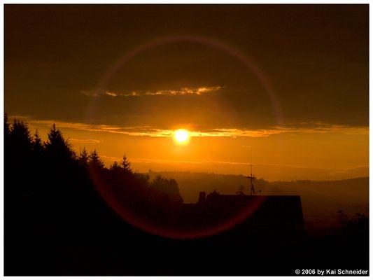 Sonnenaufgang aus'm Fenster