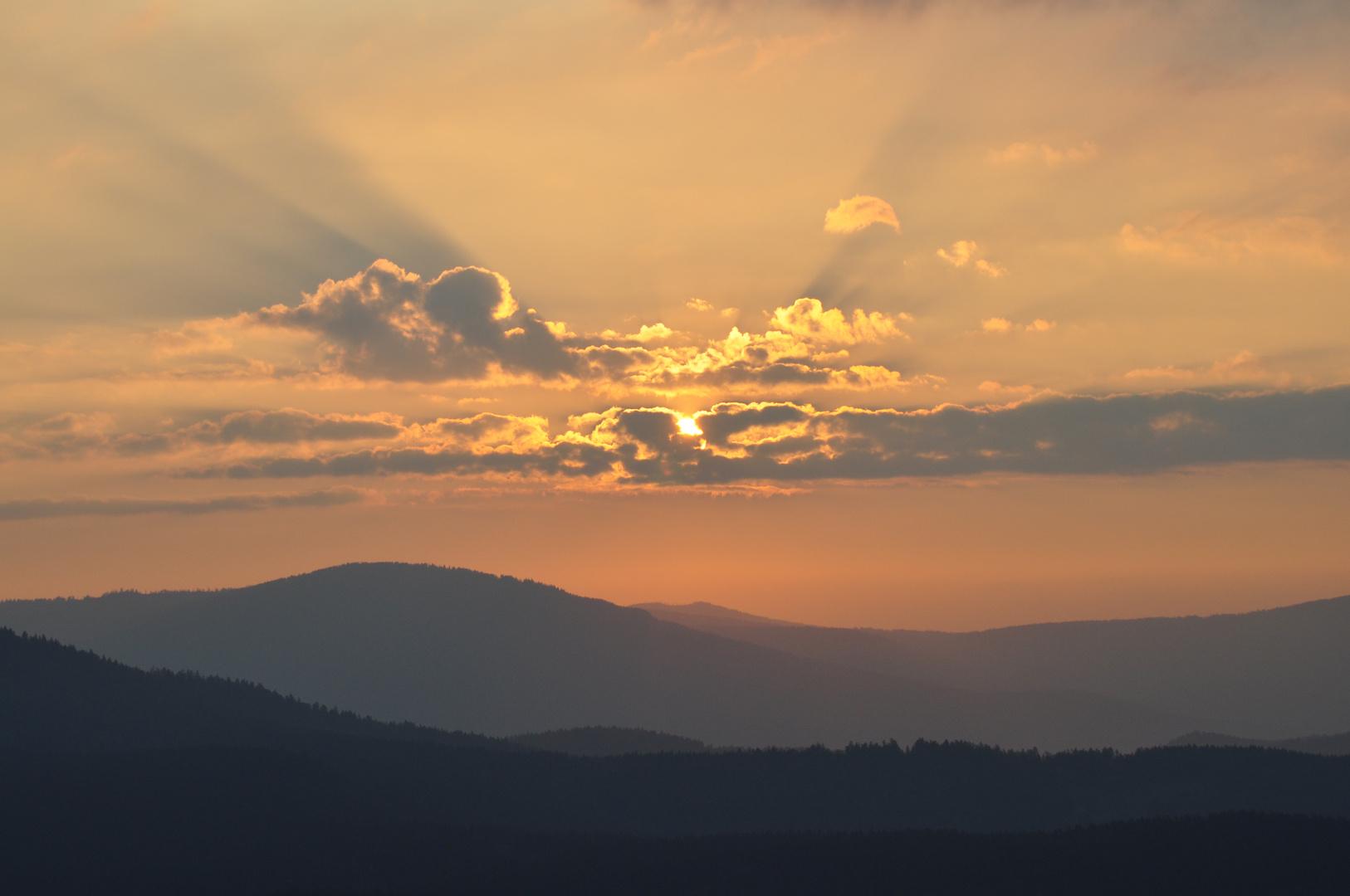 Sonnenaufgang Bayerischer Wald