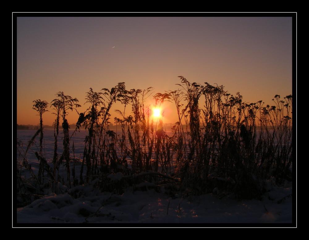 """Sonnenaufgang bei -10°C"""