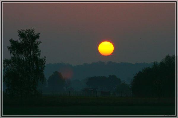 Sonnenaufgang bei Augsburg