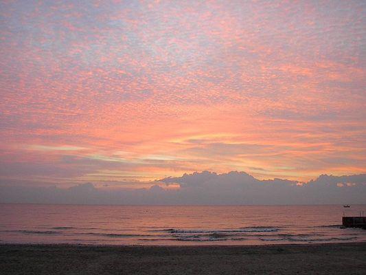 Sonnenaufgang bei Genua