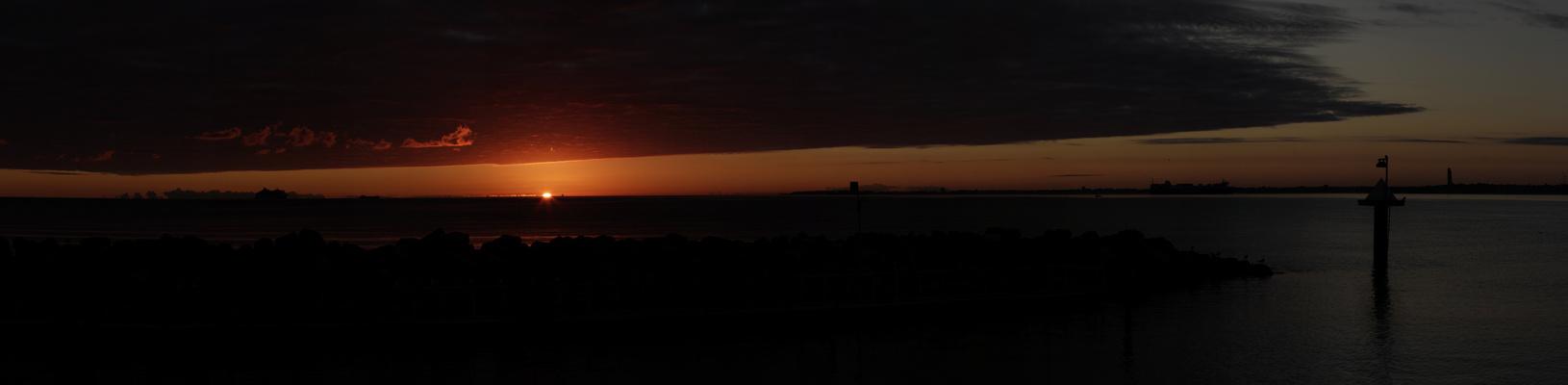 Sonnenaufgang bei Kiel (Schilksee)