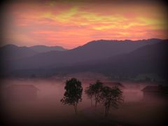 Sonnenaufgang bei Kochel