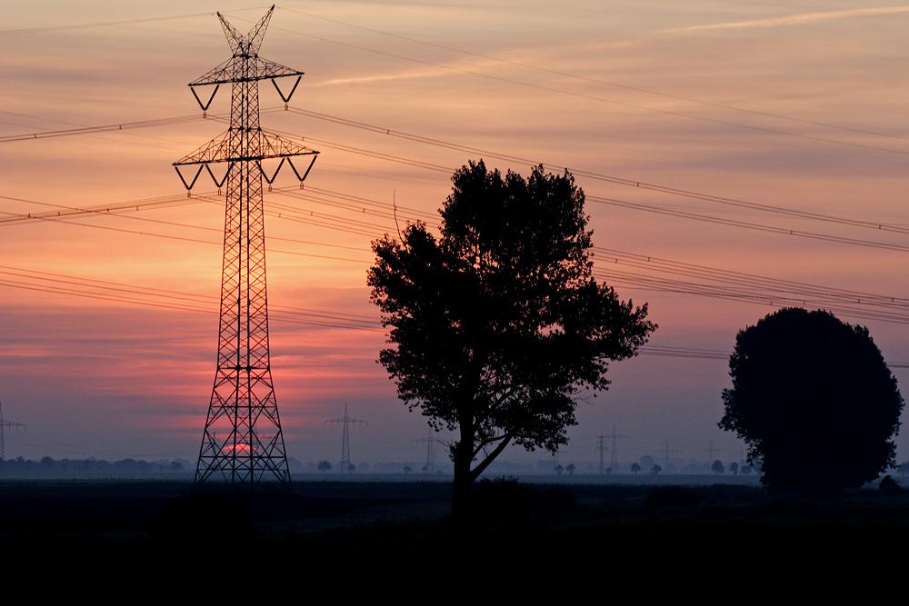 Sonnenaufgang bei Krempe