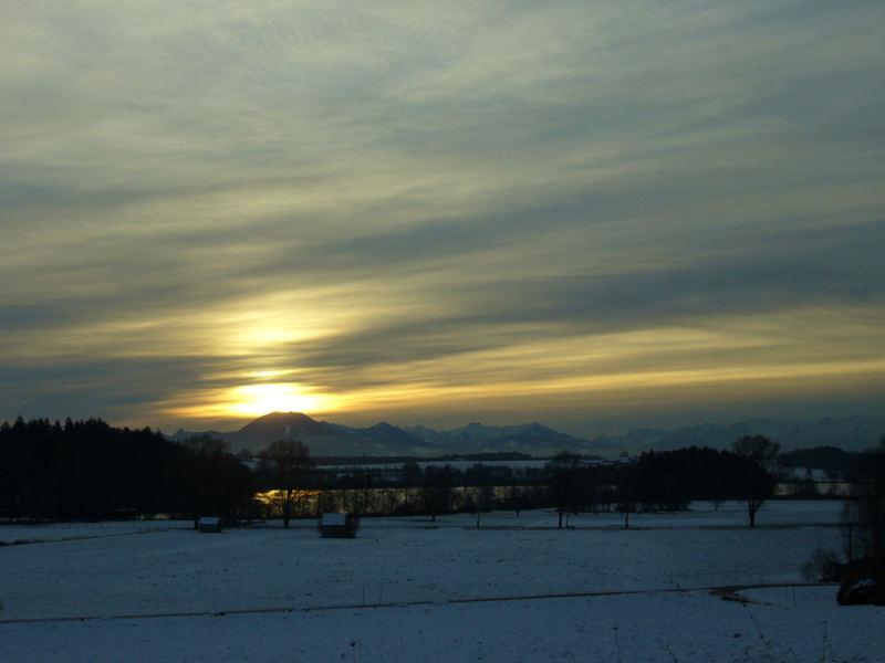 Sonnenaufgang bei Laufen (Deutschland)