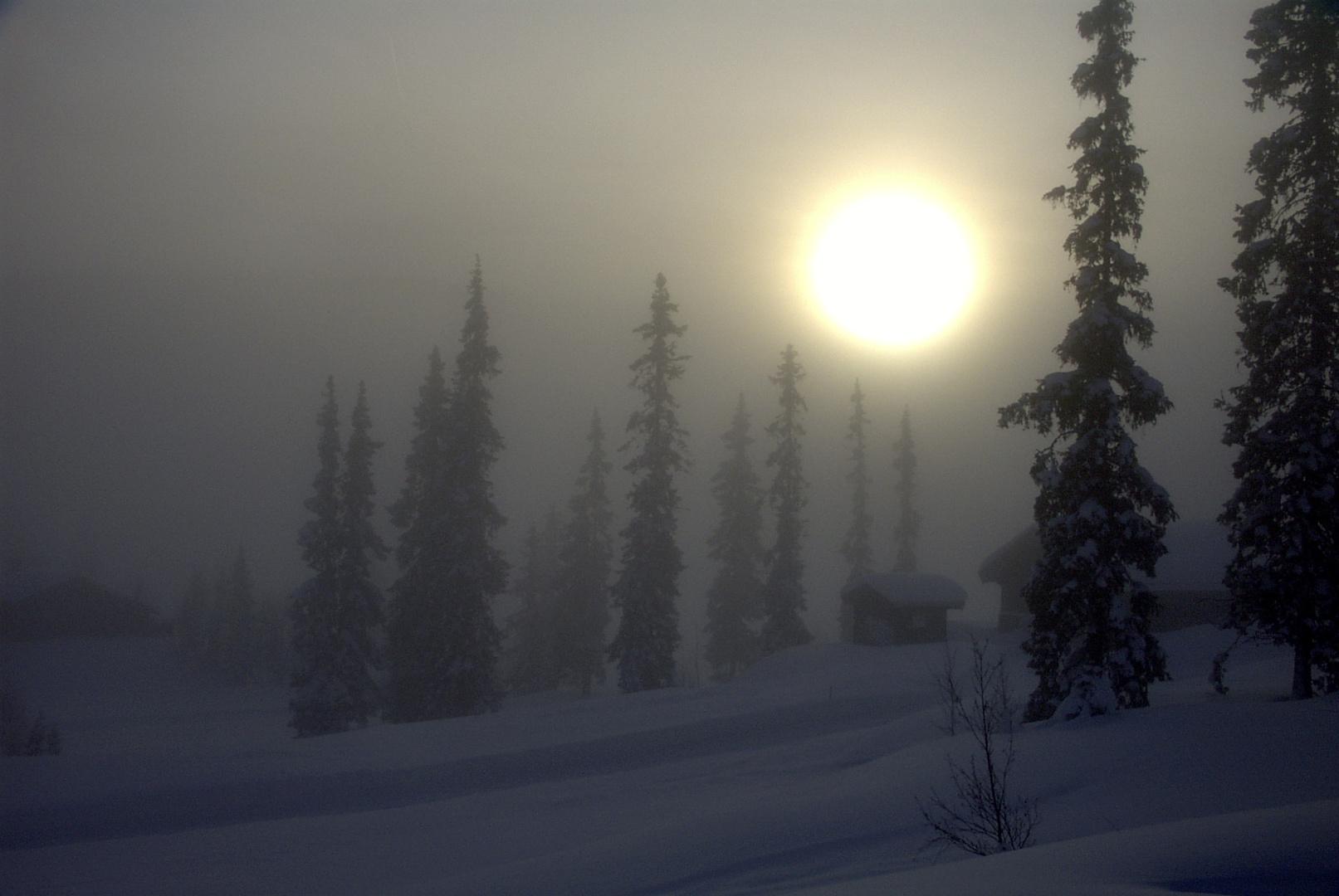 Sonnenaufgang bei Lillehammer, Norwegen