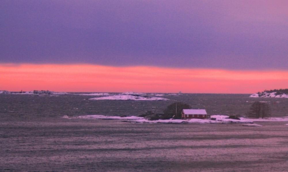 Sonnenaufgang bei Mariehamn