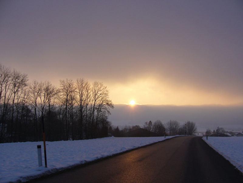 Sonnenaufgang bei Michaelbeuern (Österreich))