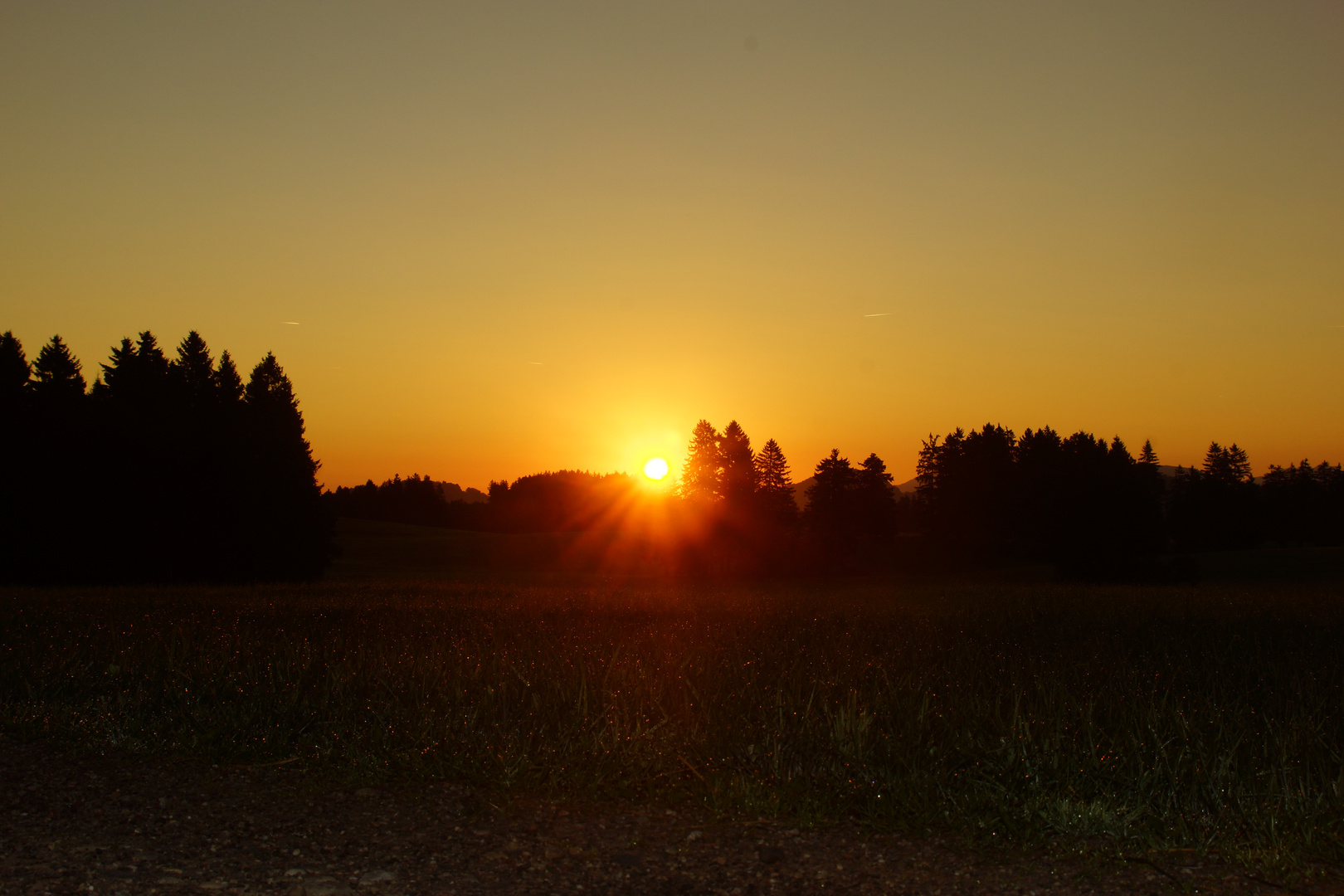 Sonnenaufgang bei Seeg 06.09.2013 (2)