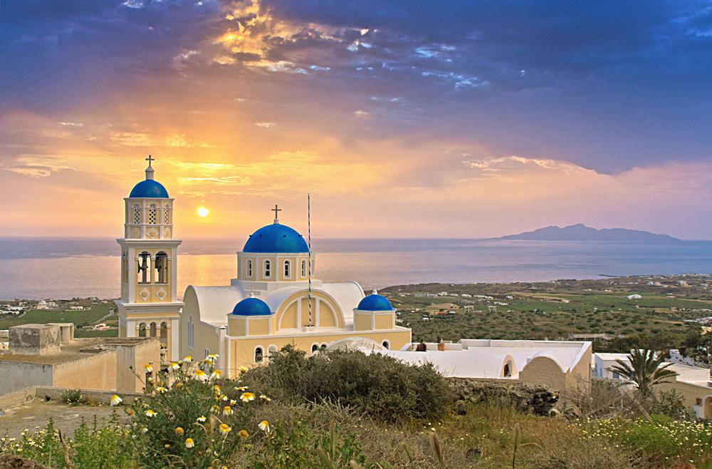 Sonnenaufgang bei Thera, Santorini