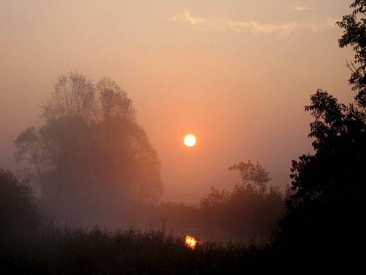 Sonnenaufgang bei Warching
