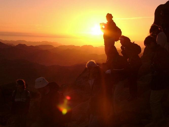 Sonnenaufgang beim Mosesberg, Ägypten