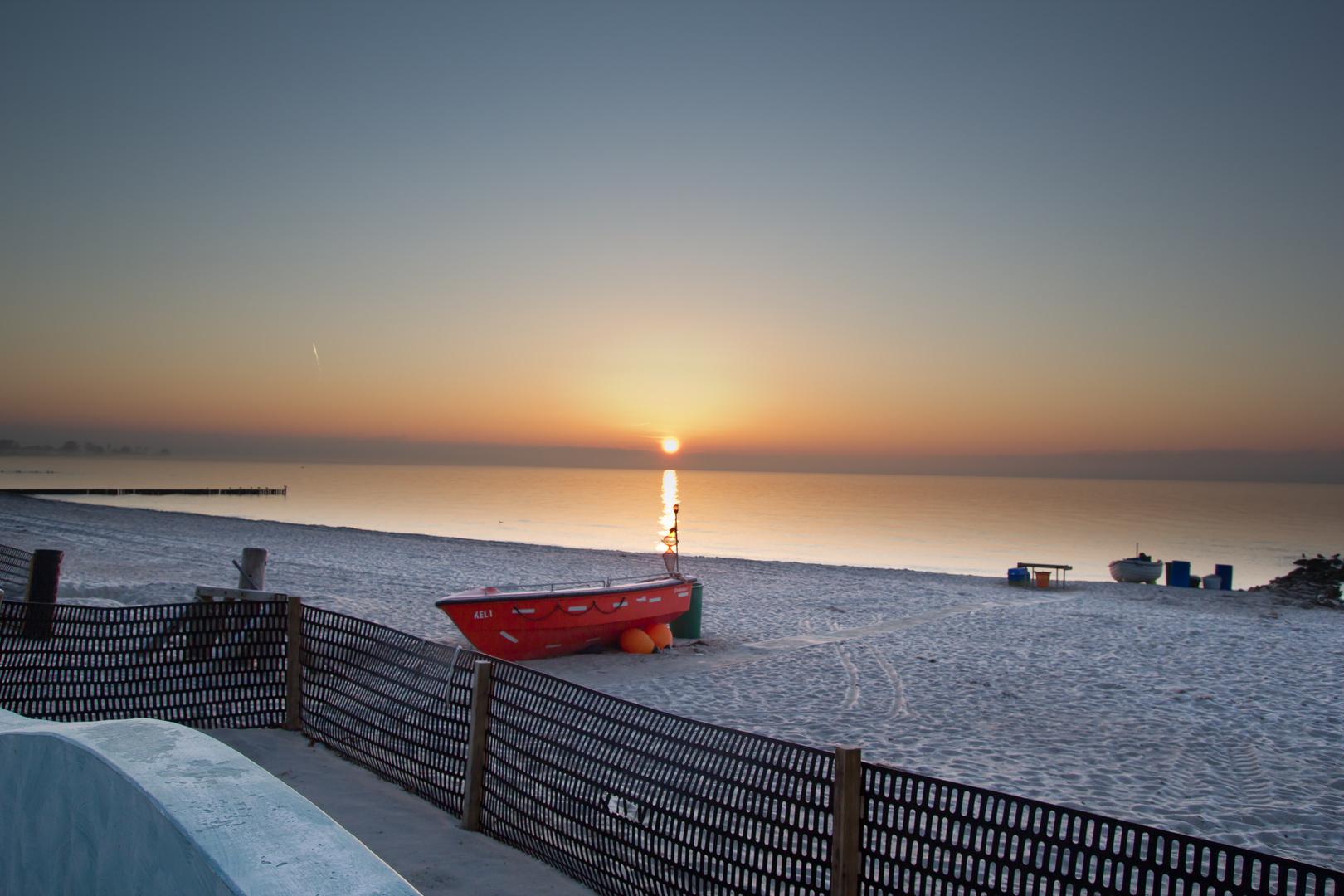 Sonnenaufgang Boot