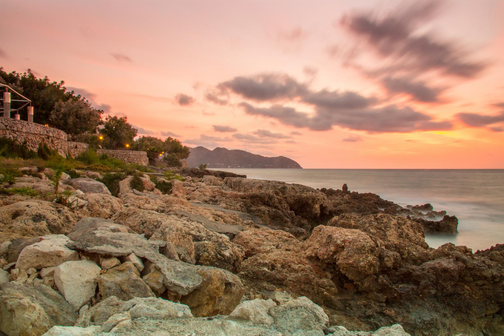 Sonnenaufgang Cala Millor Mallorca Mittelmeer