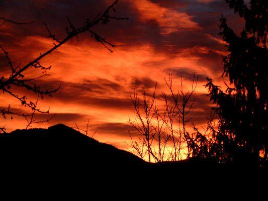 Sonnenaufgang Dezember 2003 Orange