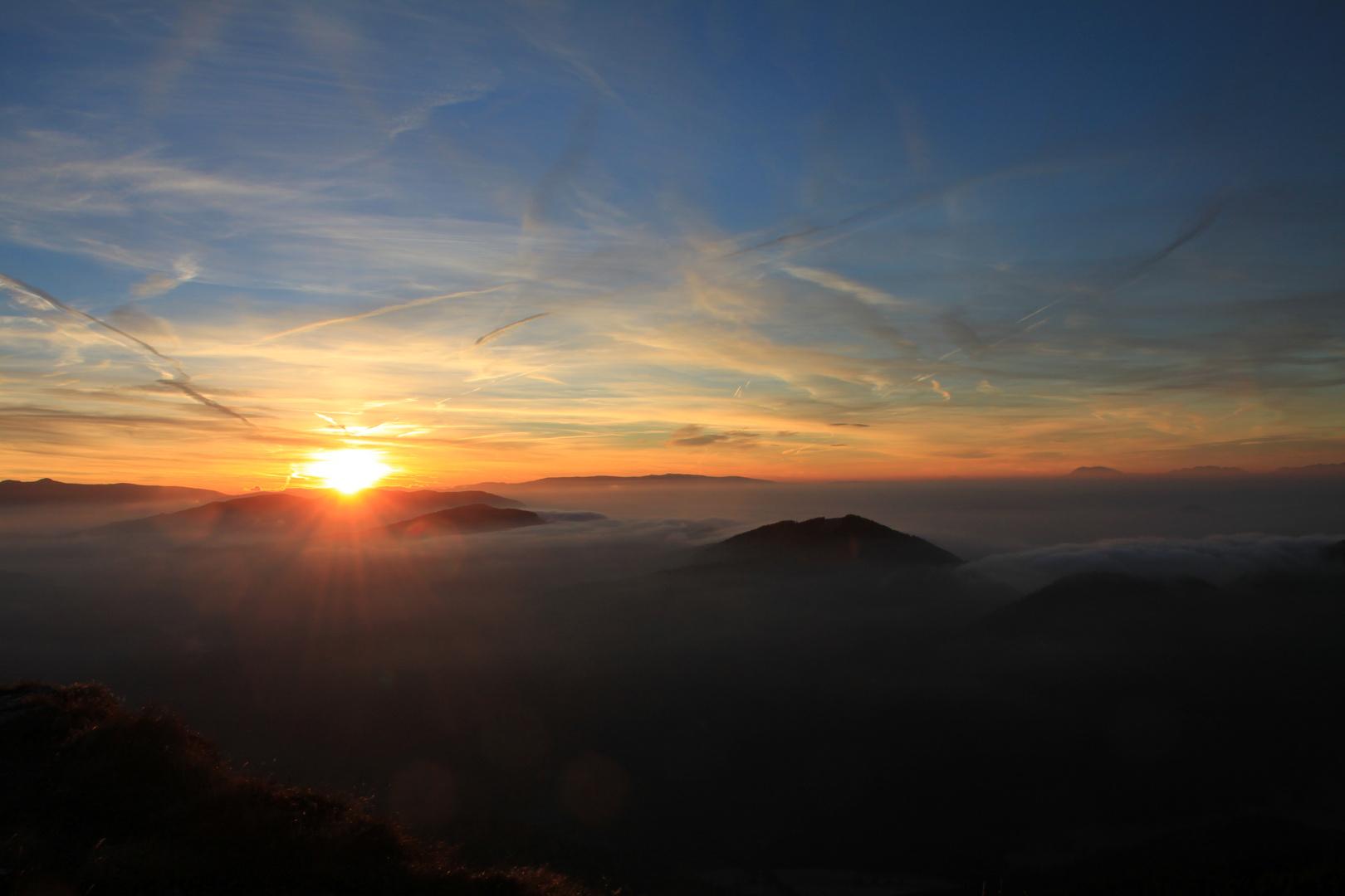 Sonnenaufgang Frauenalpe Murau