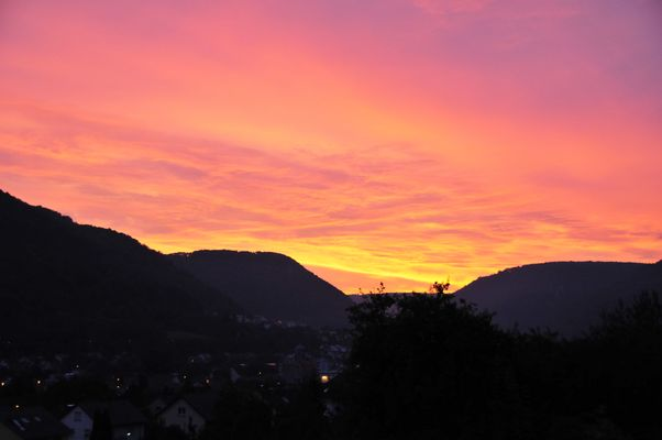 Sonnenaufgang-Geislingen an der Steige