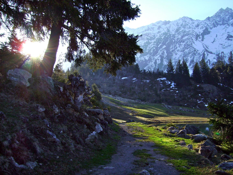 Sonnenaufgang , Golzernsee