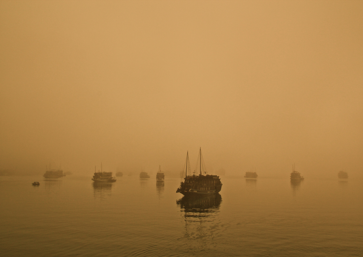 Sonnenaufgang Halong Bucht