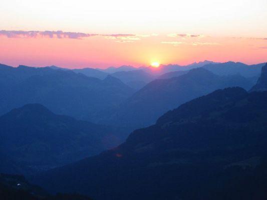 Sonnenaufgang Hoher Freschen Vorarlberg