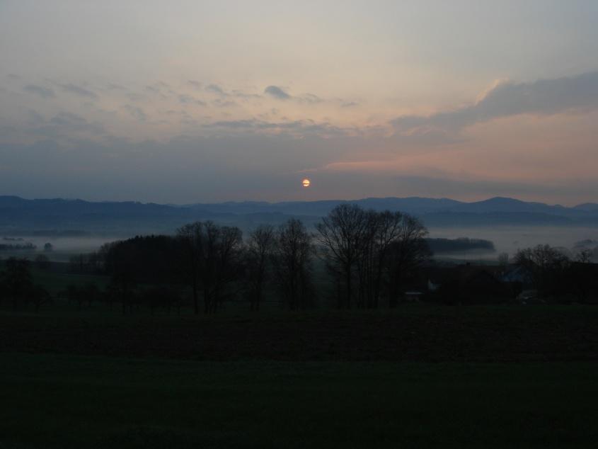 Sonnenaufgang Horben (Nähe Hochdorf, Luzerner Seetal)