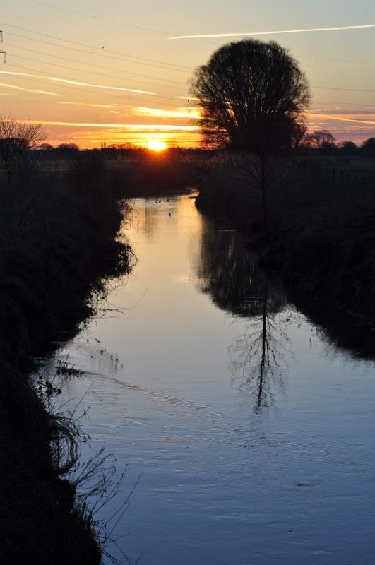 Sonnenaufgang ikn den Ahsewiesen