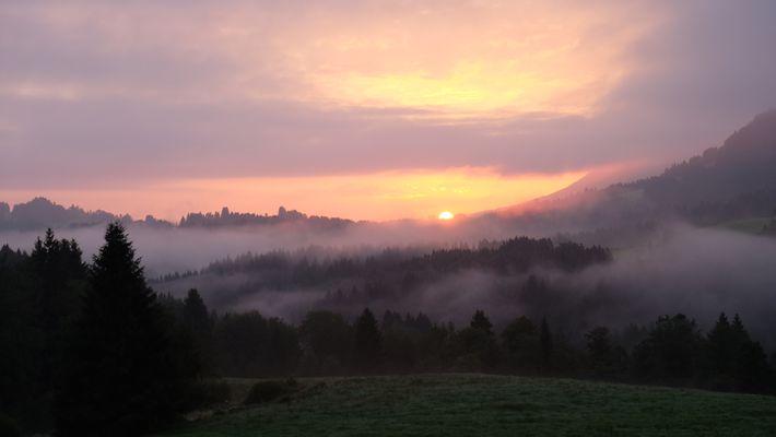 Sonnenaufgang im Allgäu