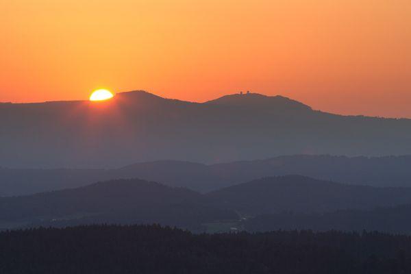 Sonnenaufgang im Bayerwald