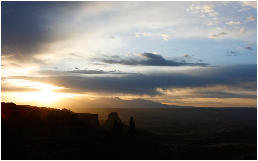 Sonnenaufgang im Canyonlands Nationalpark