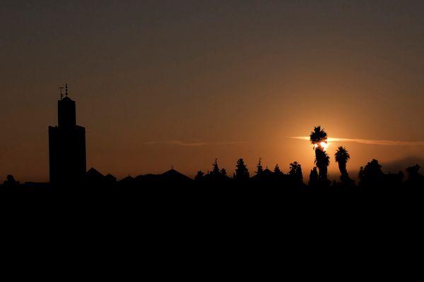 Sonnenaufgang im Dezember in Marrakech