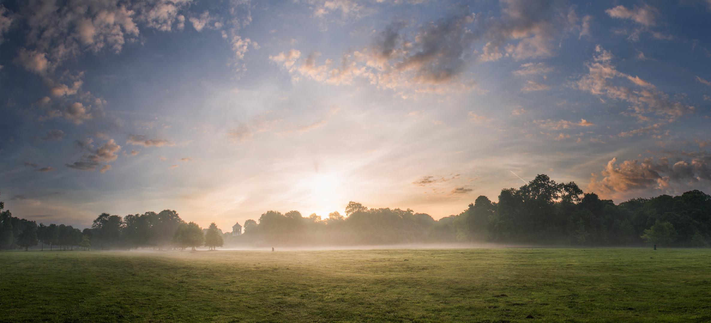 Sonnenaufgang im Englischen Garten