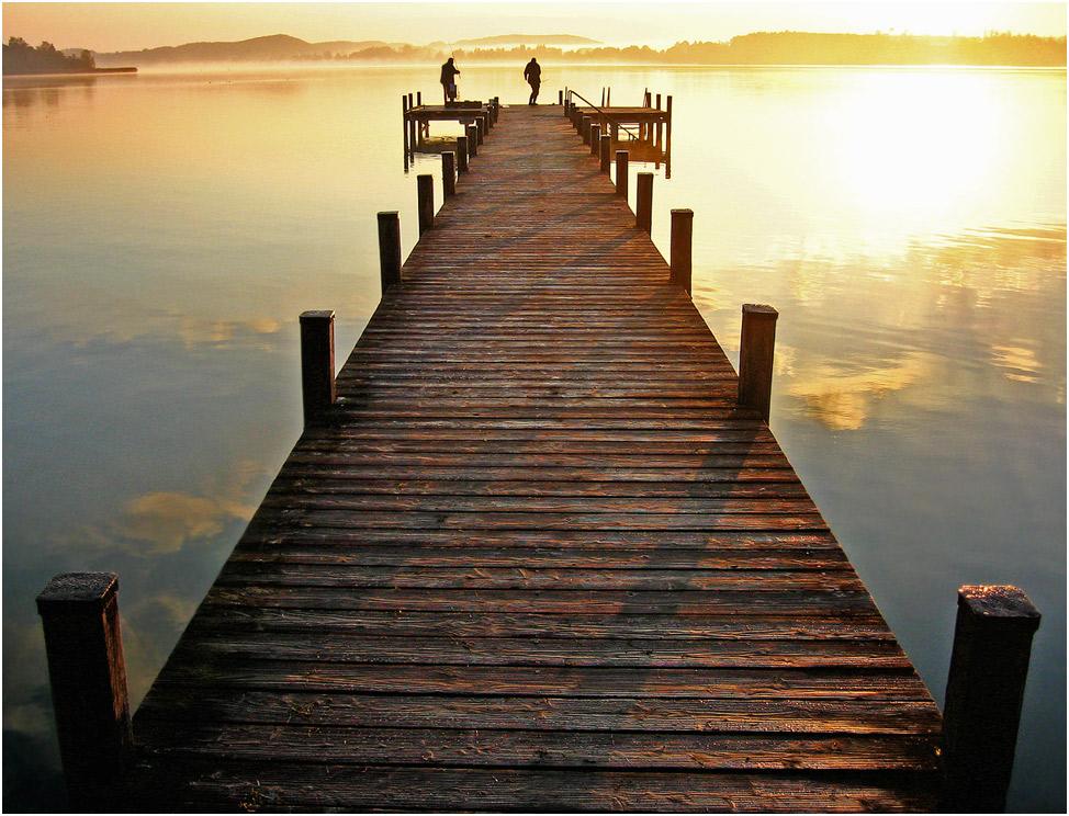 Sonnenaufgang im Fünf-Seen-Land