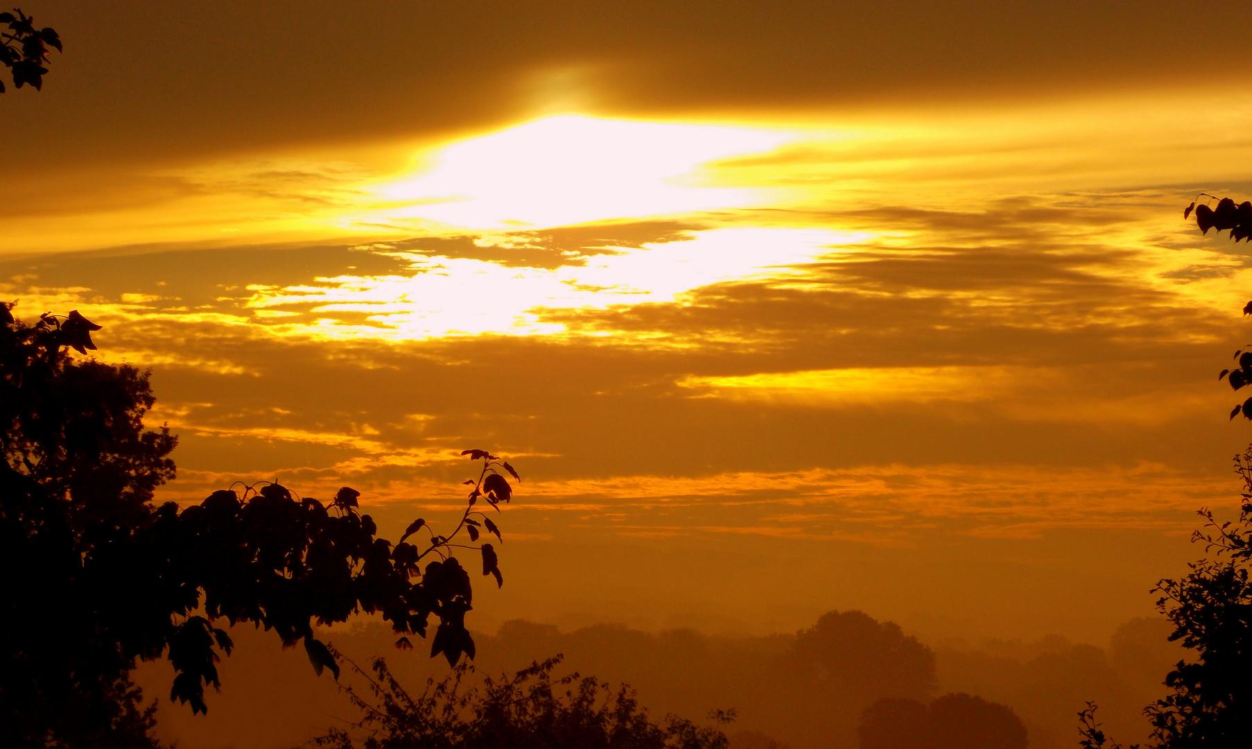 Sonnenaufgang im goldenen Oktober
