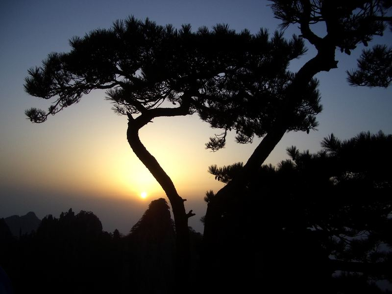 Sonnenaufgang im Huang Shan