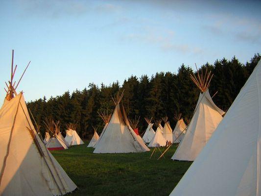 """Sonnenaufgang im """"Indianerlager"""""""
