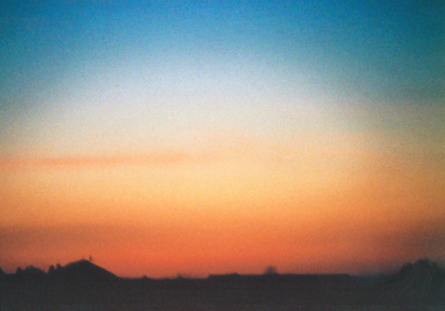 Sonnenaufgang im ländischen Nordhessen