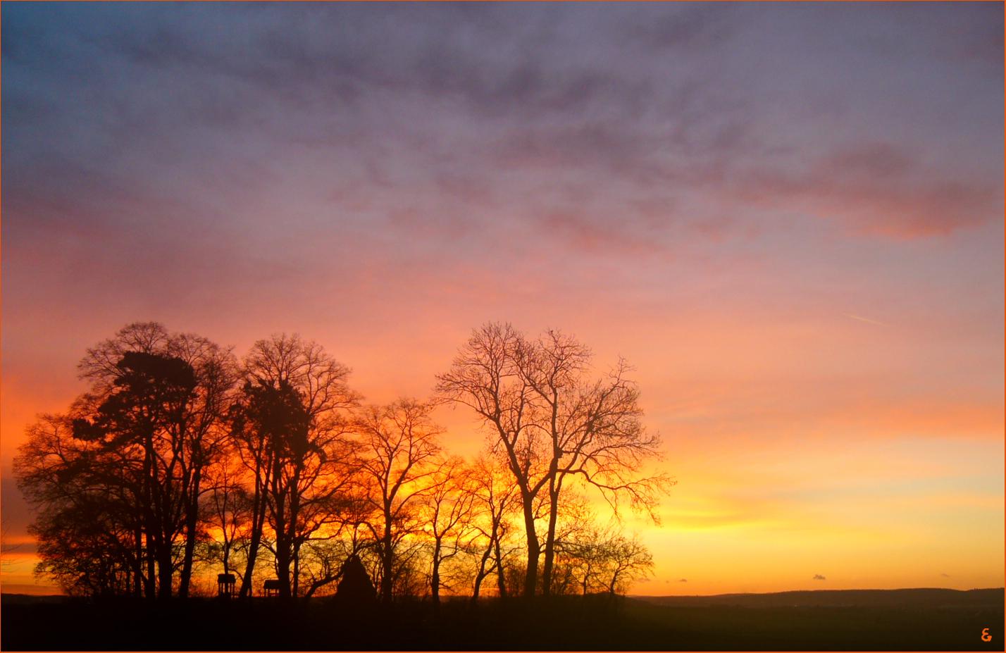 Sonnenaufgang im Ländle.