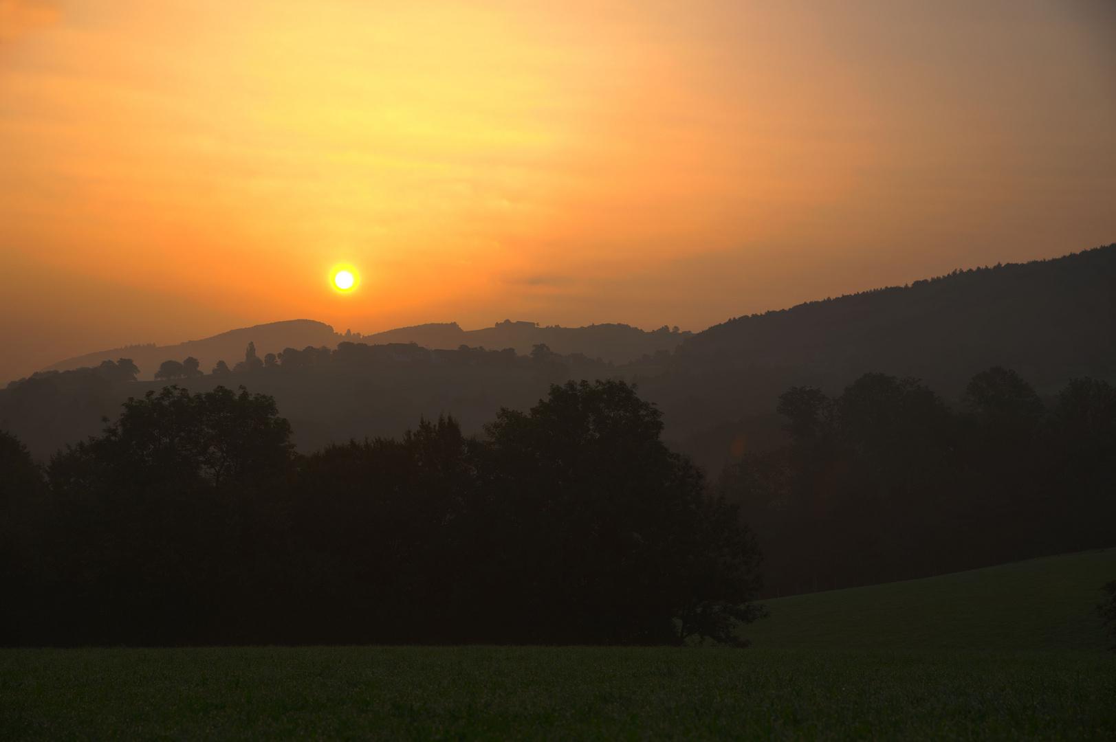 Sonnenaufgang im Mostviertel