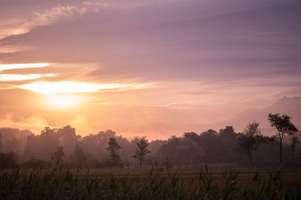 Sonnenaufgang im Murnauer Moos