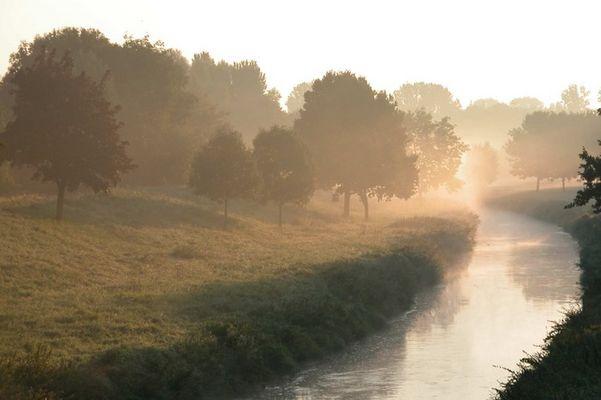Sonnenaufgang im Nebelfeld