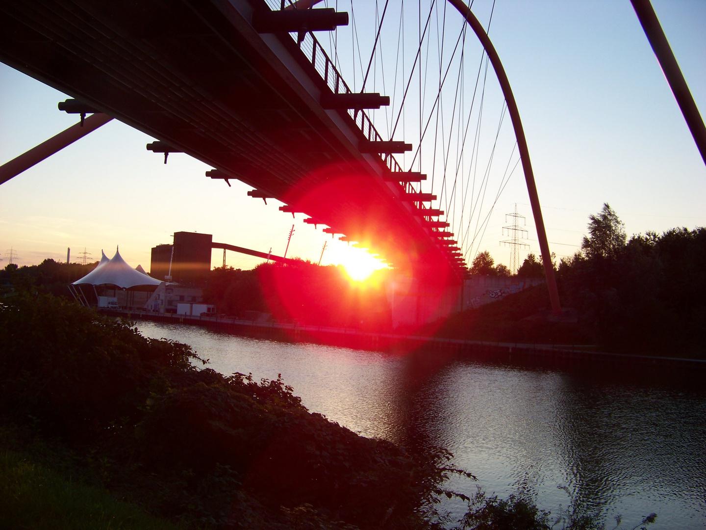 Sonnenaufgang im Nordsternpark
