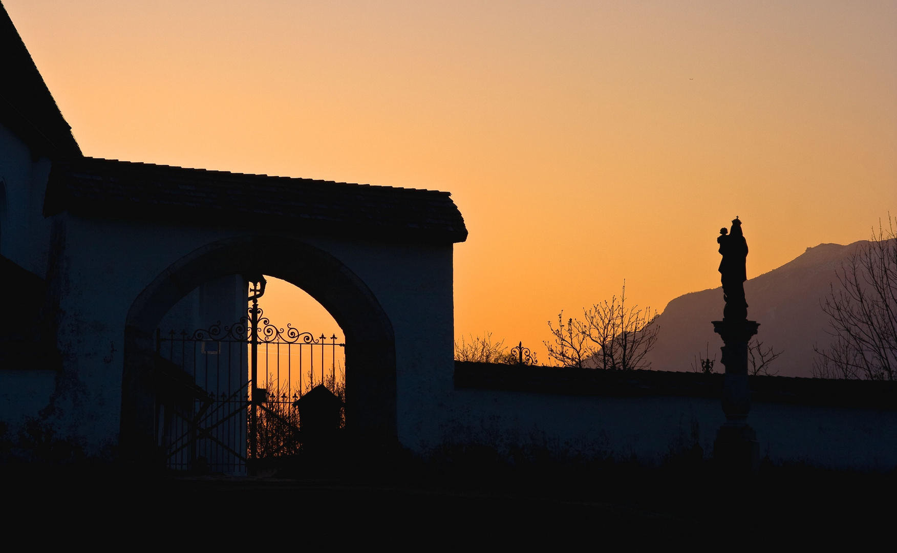 Sonnenaufgang im Reichenhaller Tal