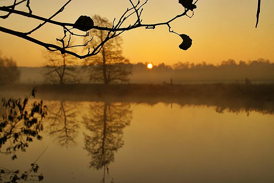 Sonnenaufgang im Ruhrtal...