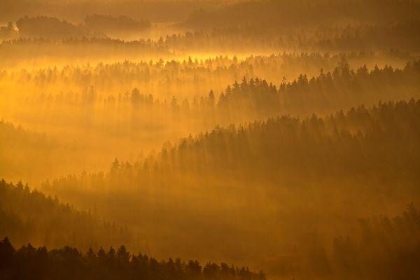Sonnenaufgang im Saale-Holzlandkreis