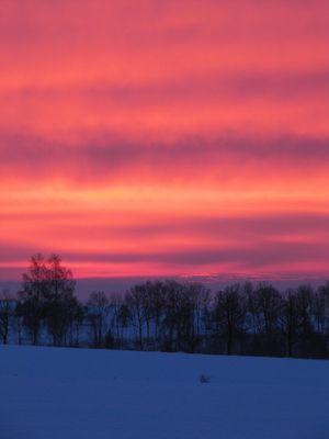 Sonnenaufgang im Schnee (2)