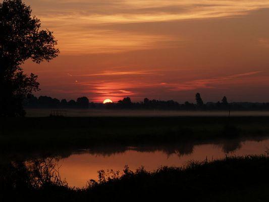 Sonnenaufgang im Spreewald