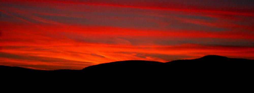 Sonnenaufgang im Thüringer Wald