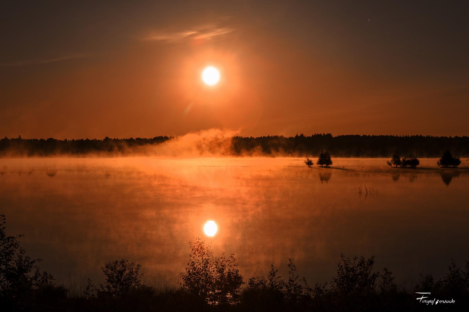 Sonnenaufgang im Tister Bauernmoor !!!